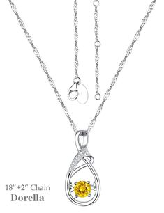 Forever Love Infinity Citrine Pendant Necklace Sterling Swarovski Jewelry Birthday Christmas Gift for Women * Continue to the product at the image link. (This is an affiliate link) #JewelryDesign