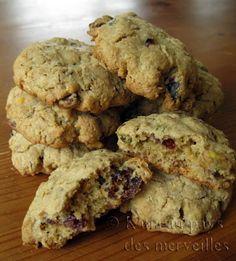 Biscuits à l'avoine, aux canneberges et aux pistaches