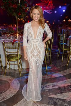 Kylie Minogue in J'Aton Couture at the Australian of the Year in the UK event in London on January 24, 2015.