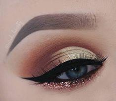 Gorgeous makeup #eyemakeup #makeup #glittergold