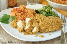 Kitchen Concoctions: Crispy Tortilla Crusted Chicken #recipe #dinner #chicken