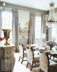 NINE + SIXTEEN: Dining Room Design Plan | Scenic Wallpaper