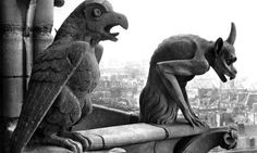 Gargoyles at Notre Dame, Paris, by Viollet-le-Duc and Eugene Emmanuel (1814-79)