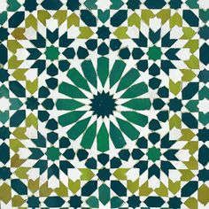 moroccan tiles, teals and greens