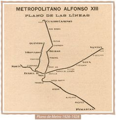 Plano de Metro de Madrid (1926-1928) Metro Madrid, Underground Map, Metro Map, Subway Map, Rapid Transit, Old Maps, Most Beautiful Cities, City Maps, Arquitetura