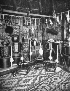 Holy corner in home of Ainu chief, Shiraoi, 1946 by Alfred Eisenstaedt