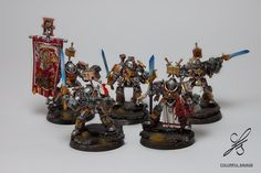 Grey Knights Terminators - squad (2) by Colorfulsavage