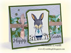 If You Bling It: February Stamp of the Month Blog Hop - Easter Bunny