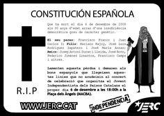 Constitución española RIP. JERC
