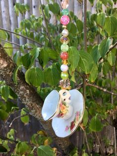 Upcycled Tea Cup Ornament, Tea Cup Sun Catcher, Kitchen Decoration, Tea Party, Hanging Garden Pendant, Window Charm, Wall Hanging, Gift Idea