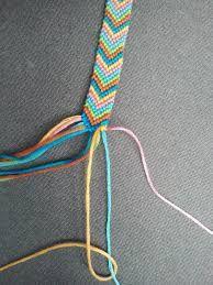simple colorful ''V'' frienship bracelet
