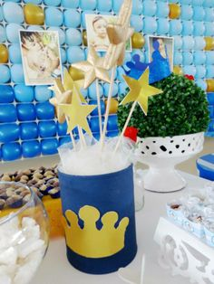 Arranjo de mesa Festa Pequeno Principe