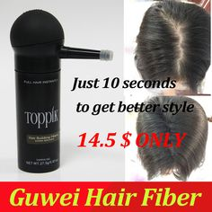 Refill bag 100g Hair Building Fibers Non Synthetic to give Men and Women a Full Thicker Hair  for Thinning Spars ,Balding areas