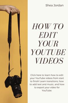 Do you want to learn how to edit videos? Check out how to edit your footage, use transitions and insert music with this easy tutorial. Start Youtube Channel, Making Youtube Videos, How To Start Vlogging Youtube, How To Start Youtube, Marketing Software, Online Marketing, Marketing Tools, Marketing Ideas, Vlog Tips