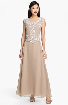 J Kara Mock Two Piece Scalloped Dress available at #Nordstrom - what do you think for Mother of the Bride dress? It is a petite dress, i like the cut and design.