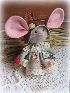 Купить Мышка - малышка с большими ушами Рукодельница Фрося - мышка, мышь, мышонок, мышки, мыши
