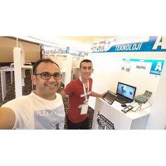 Stand hazırlığı  #teknoloji #changeworld #azizsancar #arduino #baskabirsey #design #developer #inventor #robot by baser_tech