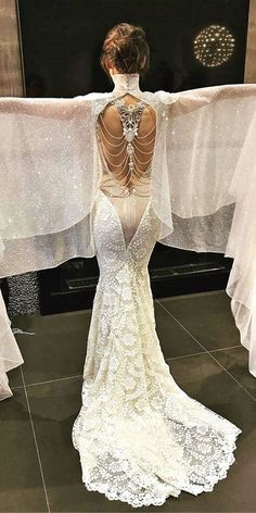 this designer wedding dress is unreal!