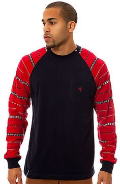 The LRG L-Natured LS Raglan Tee in Navy by LRG Core Collection