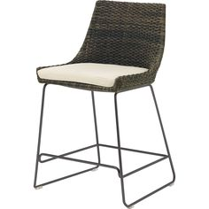Buy Woven Shelter Counter Stool by McGuire Furniture - Quick Ship designer Furniture from Dering Hall's collection of Contemporary Barstools & Counter Stools.