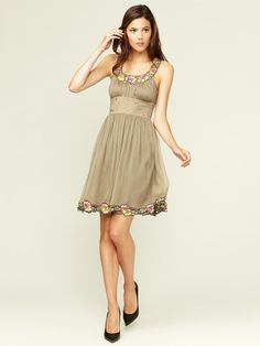 Gathered Silk Eyelet Cut-Out Dress by Catherine Malandrino on Gilt.com