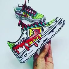 Check these🔥 Comment your shoe size below👇🏼 - custom sneakers by independent artists👟 📸: Custom Painted Shoes, Hand Painted Shoes, Custom Shoes, Customised Shoes, Dr Shoes, Hype Shoes, Cartoon Shoes, Nike Cartoon, Nike Shoes Air Force