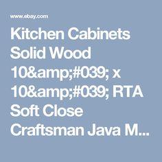 Kitchen Cabinets Solid Wood 10' x 10' RTA Soft Close Craftsman Java Maple   | eBay