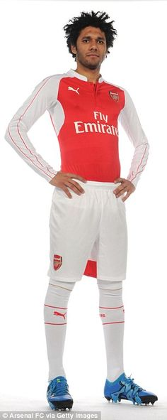 Arsenal released a series of images to mark the move...