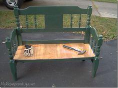 Podemos reaproveitar as cabeceiras da cama ou cadeiras, para fazer lindos bancos.   Veja as ideias propostas nas imagens.