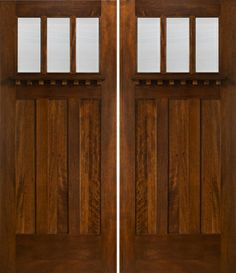 Want this style for front doors. exterior craftsman finishes | Craftsman Style Double Doors Exterior
