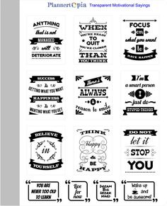 Transparent Motivational Sayings, Premium Matte Vinyl, Planner Stickers, Reusable, For ECLP & Other Planners Motivational Sayings, Sign Quotes, Sign Sayings, Job Quotes, Calligraphy Quotes Doodles, Instagram Feed Ideas Posts, Vinyl Sticker Sheets, Bullet Journal Ideas Pages, Erin Condren Life Planner