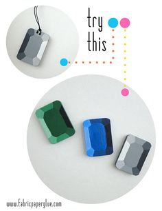 DIY Wooden Gems by fabricpaperglue, via Flickr