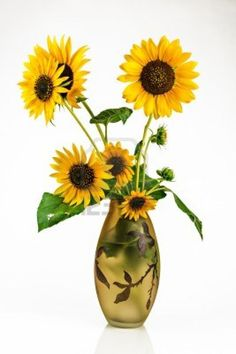 Bouquet of sunflower in a vase.