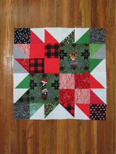 If you can stitch a quick half square triangle, you can make the Quick and Easy Christmas Quilt with your favorite holiday fabrics! Block 3