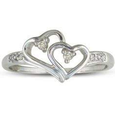 Double Heart Rings Engagement 3