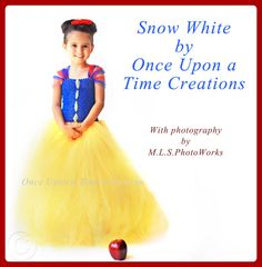 Snow White Inspired Princess Tutu Dress - Birthday Outfit, Photo Prop, Halloween Costume - 12M 2T 3T 4T 5T - Disney Snow White Inspired