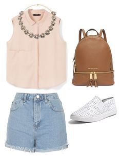 """""""Untitled #66"""" by averyhumeniuk on Polyvore featuring Topshop, MANGO, Forever 21, Steve Madden and Michael Kors"""