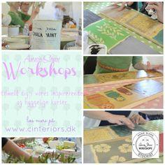 Annie Sloan Workshops in Denmark Make Chalk Paint, How To Make Paint, Annie Sloan Wax, Annie Sloan Chalk Paint, Paint Effects, Chalkboard Paint, Painted Furniture, Decoupage, Stencils