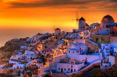 experience the magical santorini sunset