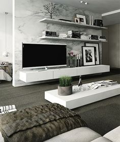 40 TV Wall Decor Ideas | Living room decorating ideas, Room ...