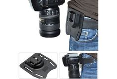 This harness allows you to carry your camera securely on your belt so you don't have to take the camera case. With this camera belt mount, you can enjoy shooting in a flash. Features: · Superior quali