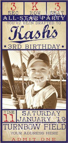 All star grad party Baseball Theme Birthday, Sports Birthday, Sports Party, 2nd Birthday Parties, Boy Birthday, Birthday Ideas, Theme Parties, 1st Birthdays, Baseball Invitations