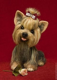 Toy animals, handmade. Fair Masters - handmade. Buy Yorochka Bonya. Handmade. Yorkshire terrier, dog