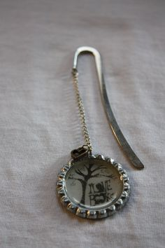 Shepard hook bookmark, bottlecap & charm