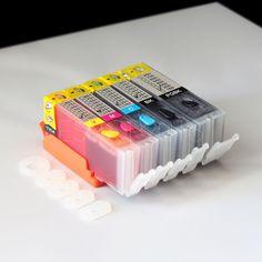 Refillable Ink Cartridge Kit PGI-250 CLI-251 for Canon PIXMA MG5420 MX922 iX6820