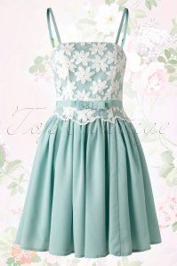Bunny Marvelette White Daisy Mint Green Dress 102 40 14670 20150612 0006Optie2