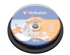 From 7.89 Verbatim 43573 1.46gb 8cm Printable Dvd-r - Spindle 10 Pack