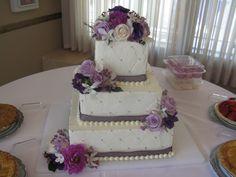 purple cake flowers