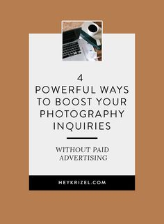 Figure out how to get the clients rolling in by using these 4 powerful strategies to boost your photography inquiries so you can start booking clients. Photography Marketing, Photography Guide, Photography Portfolio, Photography Business, Photography Studios, Photography Backdrops, Business Planning, Business Tips, Instagram Widget