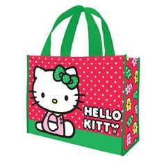 Hello Kitty Holiday Large Recycled Shopper Tote - Vandor - Hello Kitty - Tote Bags at Entertainment Earth